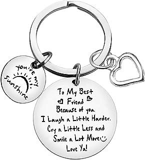Best Friend Jewelry Keychain to My Best Friend Keychain Friendship Gifts Sister Gift Keychain Jewelry Birthday Graduation ...
