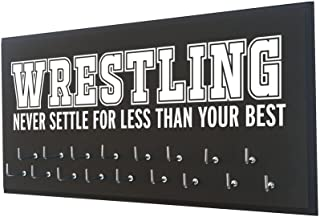 Running On The Wall- Wrestling Gifts for Athletes-Medal Display Rack-Medal Holder for Wrestlers-Wrestling Never Settle for Less Than Your Best.