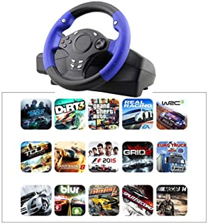 Sundlight Racing Wheels, 7 in 1 270 Degree Racing Steering Wheel for PS4/PS3/PC/XBOX-ONE/XBOX-360/Switch/Android Game Steering Wheel
