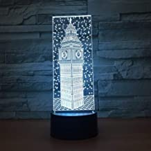 Night light, 3D illusion cartoon,Night Light LED Night Light Color Acrylic LED 3D Lamp USB Charge DC Lamp Fact y 3D Light Fixtures