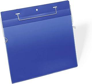 Durable 175407 Lot de 50 pochettes logistiques avec fil de suspension A4 paysage 297x210 mm bleu