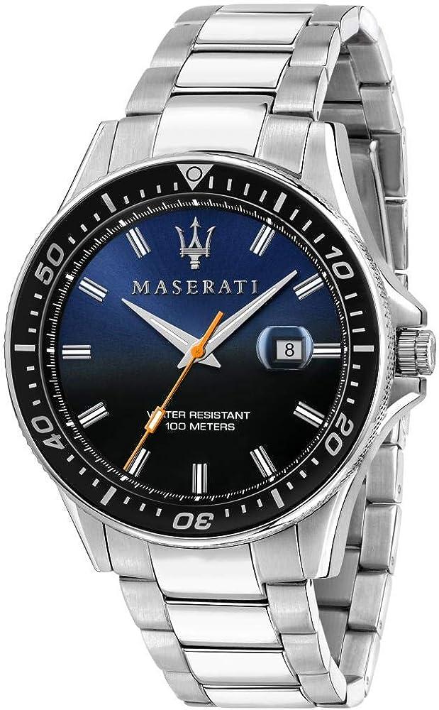 Maserati orologio da uomo, collezione sfida, in acciaio inossidabile 8033288894704