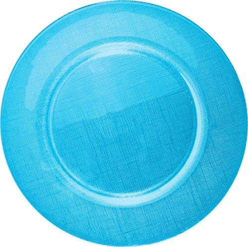 Gepolana Platzteller - Servierteller - Dekoteller - für 6 Personen - 6er-Pack - blau - Größe 33 Ø