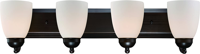Trans Globe Lighting 3504-1 ROB Clayton Indoor Rubbed Oil Bronze Traditional Vanity Bar, 30 ,