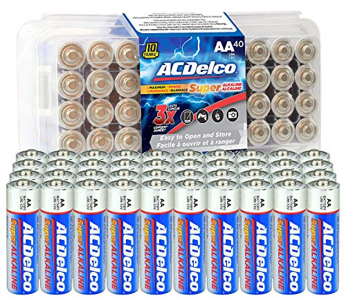 AC Delco AA Super Alkaline Batteries (40 Pack) $8.99  Free Prime Shipping