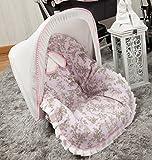 Babyline Toile - Colchoneta para silla grupo 0, color rosa