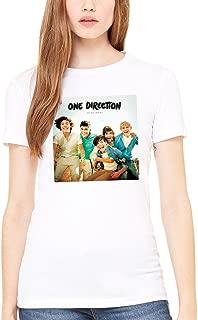 Women's Official One Direction Up All Night Women's T-Shirt I Love 1D Teen Pop Music Harry Styles