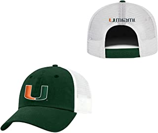 Top of the World Miami Hurricanes Adult NCAA Team Spirit Relaxed Fit Meshback Hat - Team Color,