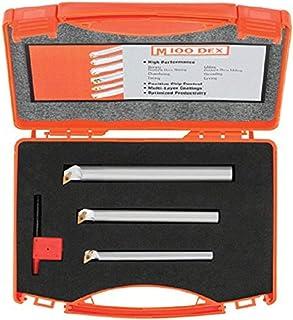 0.025 Projection 0.003 Tool Radius BBL-100700 1//8 Shank Diameter 0.700 Maximum Bore Depth Solid Carbide Tool 0.100 Minimum Bore Diameter 1-1//2 Overall Length Left Hand Cutting Radius Boring Tool Micro 100