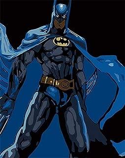60 Cm sans Cadre haoxinbaihuo Super-H/éros Normal Vie Dr/ôle Pop Art Superman Batman Spider-Man Art Peinture Soie Toile Affiche Mur D/écor /À La Maison 40