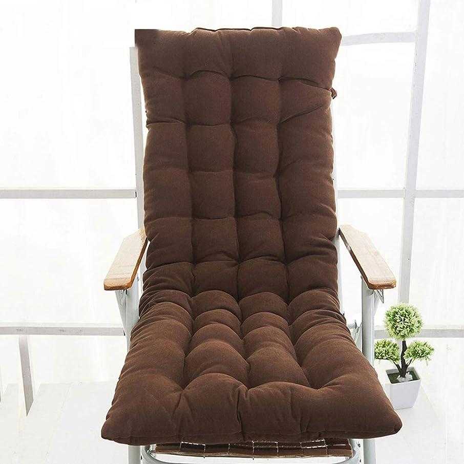 グレートオークパール栄光単色 ぬいぐるみ 厚く ロッキングチェアクッション,1-ワンピース じゃない-スリップ 通気性 キルト シートクッション 関係,の ダイニング ベッド オフィス-ブラウン 48x130cm(19x51inch)