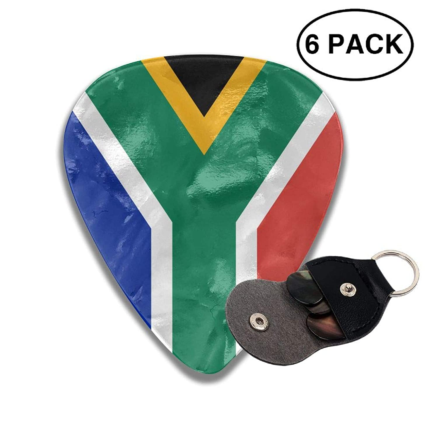 CUTEDWARF 6 Pieces of Personalized Guitar Picks South African Flag Print