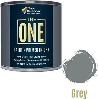 Une Peinture, un manteau, Multi Surface Peinture pour bois, métal, plastique, intérieur, extérieur, gris, Satiné, 1litre