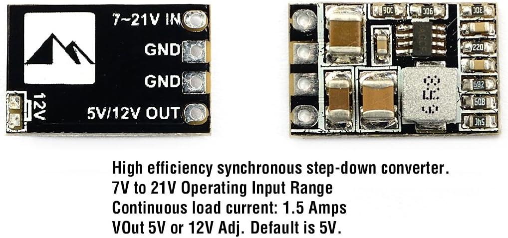 Matek Systems Micro BEC 5V / 12V Adjustable Buck Module Mini PDB 5V 12V Mini PDB Switchboard 1.5A Continuous Output FPV UAV