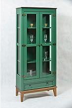 Cristaleira 2 Portas + 1 Gaveta - Verde