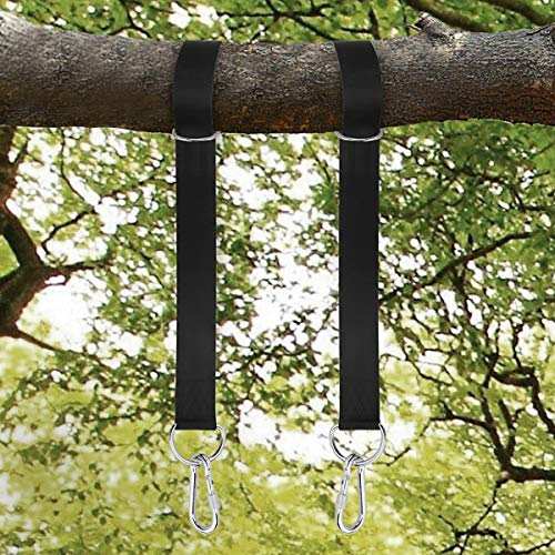 XBDUS Tree Swing Hanging Straps Kit, Holds 2200LBS 10FT Extra Long Adjustable with Safety Lock Carabiners and Carry Pouch Bag for Tire, Swings and Hammocks