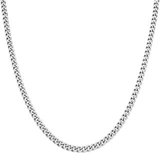 "AmyRT Stainless Steel Chain Necklace Silver for Men Women 16"" - 30"""