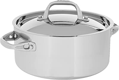 Anolon Tri-Ply Onyx Dutch Oven, 5 Quart, Stainless Steel
