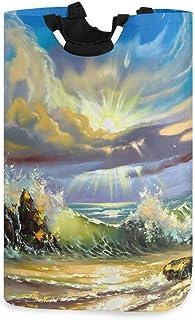 N\A Panier à Linge Seau Pliable s'effondre Panier à Linge Fantaisie océan bac à Laver pour Organisateur à la Maison Stocka...