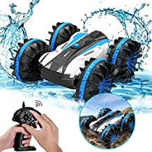 Rc Cars, KINGBOT 2.4GHz 4WD Electric Race Stunt Car, Double Sided 360° Rotating Remote Control Truck, High Speed Off Road for 3 4 5 6 7 8-12 Year Old boy Toys