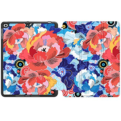 SDH Mai Lang 1 - Funda para iPad de 9,7 pulgadas 2018 2017 con soporte para lápices, iPad Air 1/iPad Air 2 Smart Cover Folio Stand Protector para Apple iPad 5th 6th Gen Case (A1822/A1823/A1893/A1954)
