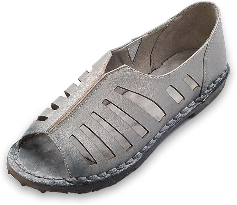 Weiche und Bequeme Bequeme Bequeme Handgefertigte Nähen Sandalen Sehne flach mit den Damen Schuhe  2e1d43