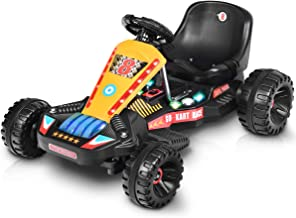 Costzon Electric Go Cart, 6V Battery Powered 4 Wheel Racer for Kids, Kids' Pedal..