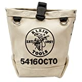 Klein Tools 5416OCTO Tool Bag, Bull-Pin and Bolt Pouch, No. 4 Canvas with Tunnel Connection, 5 x 5 x 9-Inch