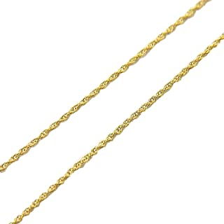 "9ct White Gold Venetian Box Chain 20/"" 50cm  Width 0.7mm  Lifetime Guarantee"
