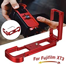 Red Aluminum Quick Release L Plate Vertical Bracket for Fuji XT3 for Fujifilm X for T3 Arca Swiss