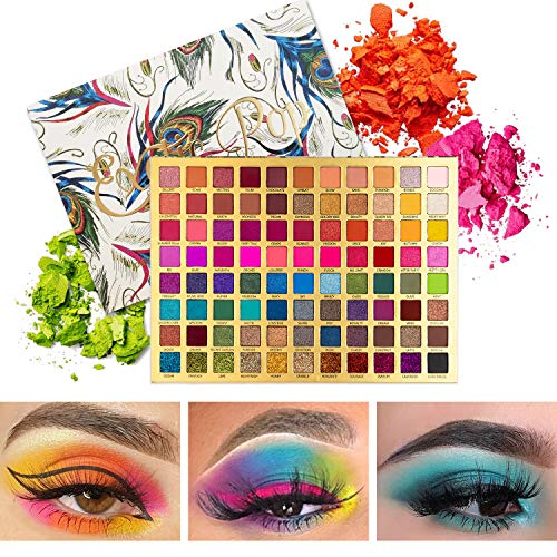 Qing Beauty Exotic Pop Palette Extra Large Colorful Eyeshadow Easily Blend 88 Colors of Professional High Pigmented Makeup Palette Long Lasting Eye Shadows