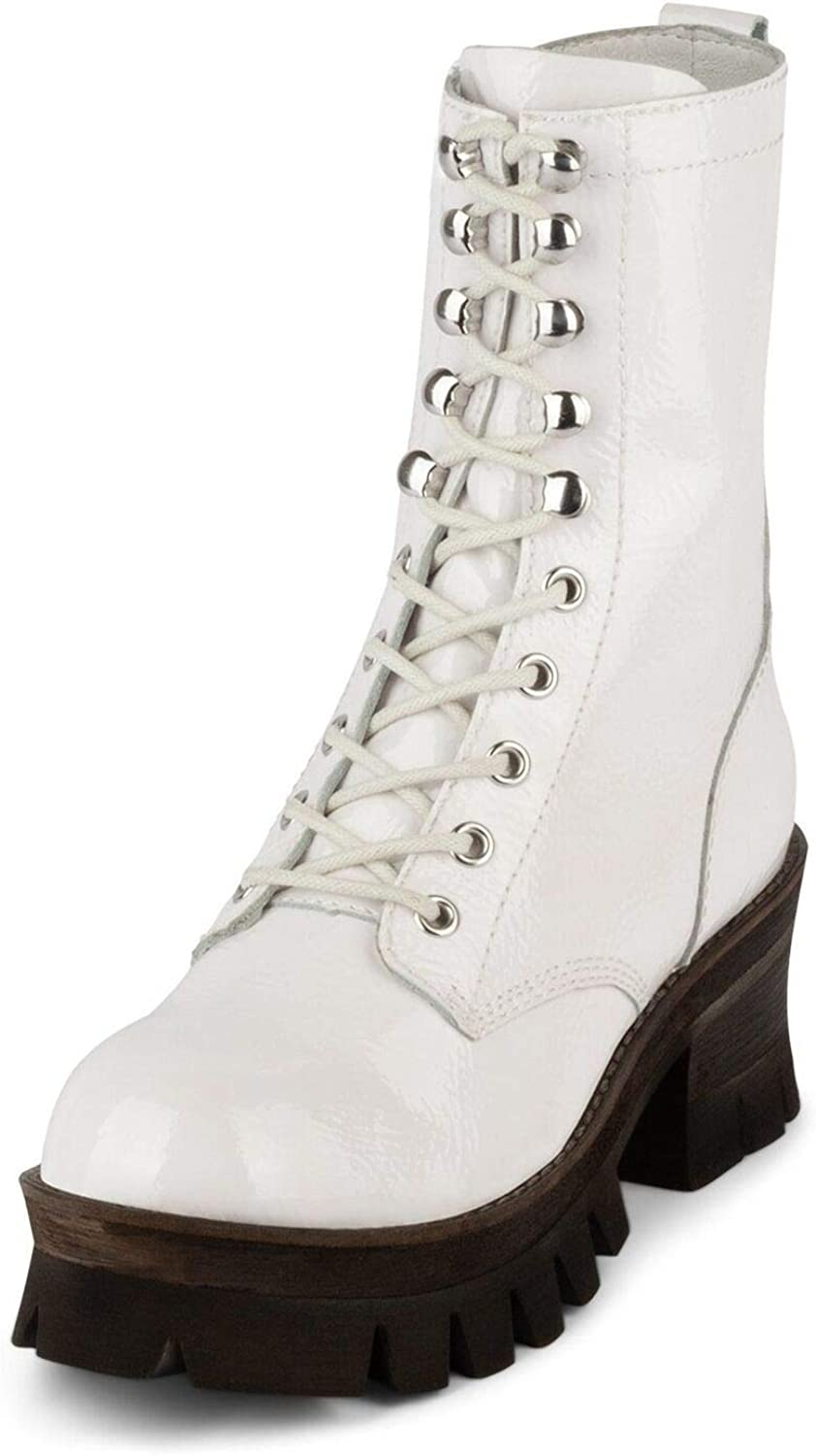Jeffrey Campbell Sycamore Crinkle Limited time cheap sale 25% OFF Boots White