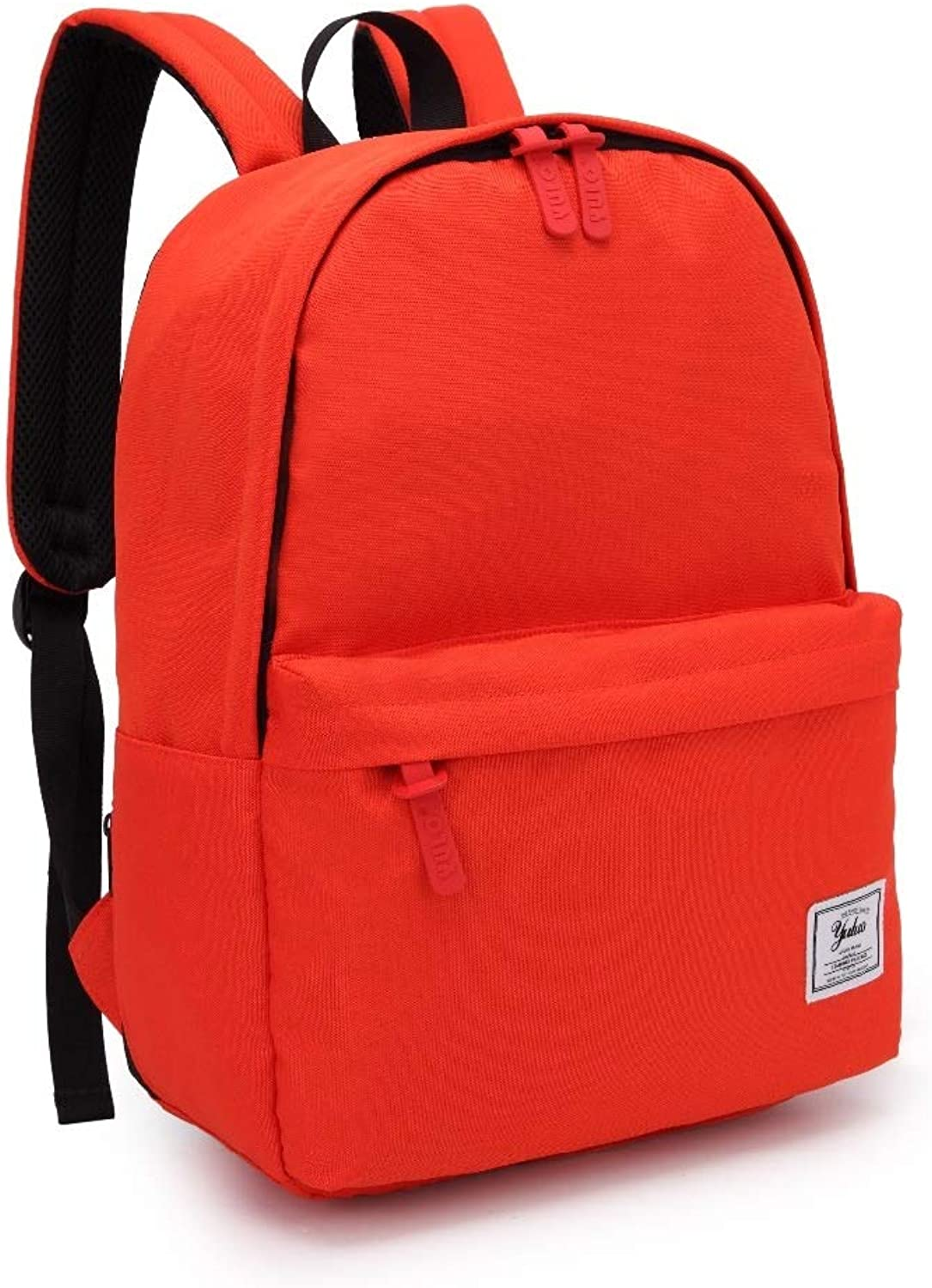 School Backpack, Unisex Classic Lightweight Water Resistant College Rucksack Travel Backpack Fits 14Inch Laptop (color   Red)