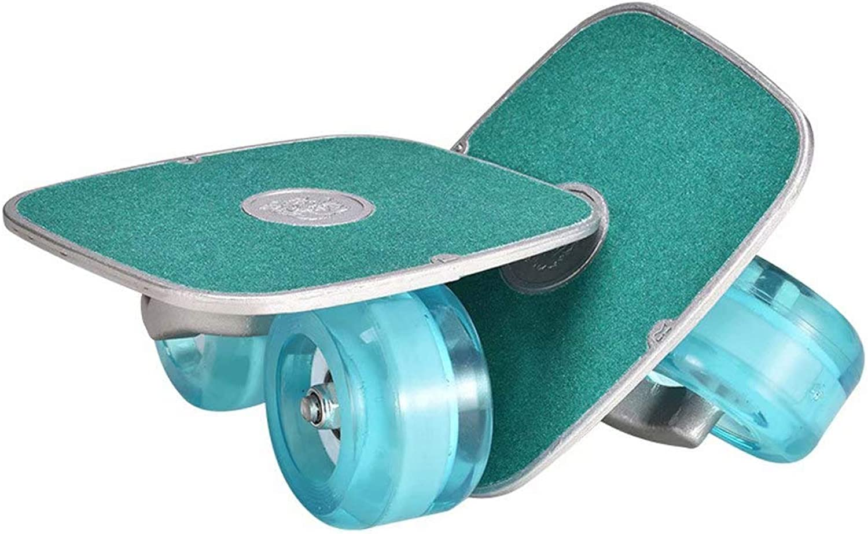 YQ&TL Drift S s gratuitoline Portable Adult Bambini Drift tavola Doppio Drago Split corpo S tavola Due Ruote Vitalità Kating Flash rueda, verde