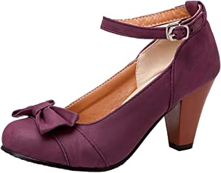 AicciAizzi Women Classic High Heel Pumps Shoes Ankle Strap