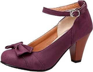 AicciAizzi Women Classic High Heel Pumps Shoes Ankle Strap