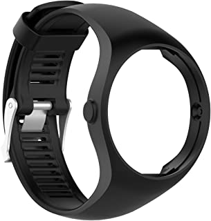MOTONG Silicone Replacement Band for Polar M200 GPS Running Watch (Silicone Black)