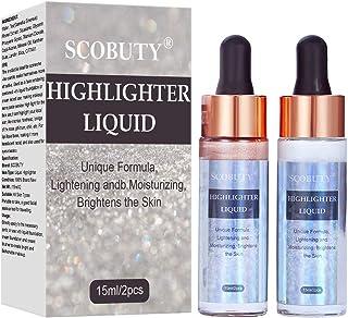 Liquid Illuminator, Liquid Highlighter, Face Illuminator Liquid, Glow Highlighter Makeup, Glow Brighten Shimmer Glitter for Face & Body