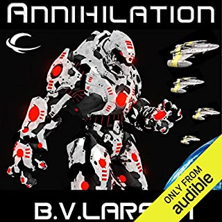 Annihilation     Star Force, Book 7              Written by:                                                                                                                                 B. V. Larson                               Narrated by:                                                                                                                                 Mark Boyett                      Length: 12 hrs and 50 mins     2 ratings     Overall 5.0
