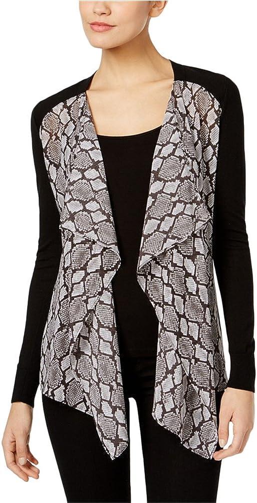 Michael Kors Womens Sweater Mixed-Media Cardigan Nippon regular New York Mall agency
