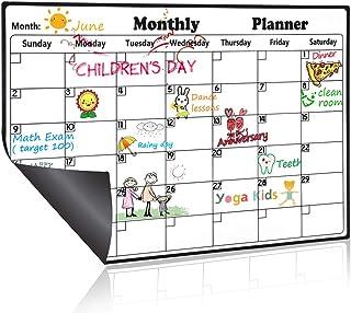 Homein Dry Erase Calendar Magnetic Fridge Calendar Board Monthly Whiteboard 2021 Family Calendars for Refrigerator White O...