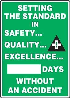 Accuform MSR132PL Plastic Write-A-Day Safety Scoreboard, Legend