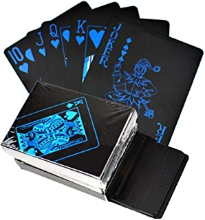 Free Ship Deal Waterproof Plastic PVC Playing Cards Set with Aluminium Case   Poker Playing Card Sets Classic Magic Tricks Tool   Playing Cards, Poker Games, Fun Games - Black