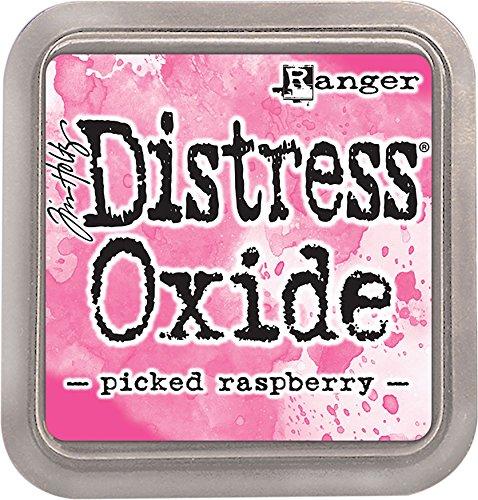 Ranger TDO56126 Tim Holtz Distress Oxide Ink Pad Picked Raspberry, Matériau synthétique, Rose, 7,5 x 7,5 x 1,9 cm