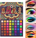 UCANBE EXOTIC FLAVORS Neon Eyeshadow Makeup Palette - 48 Colorful High Pigmented - Rainbow Matte Shimmer Glitter Eye Shadow Make Up Pallet Gift Set