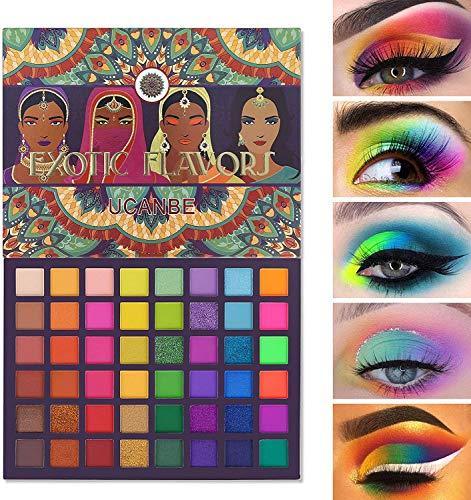 48 colores Exotic Flavors Paleta de sombras de ojos Lujosa mezcla de purpurina Brillo Sombra de ojos mate Fácil de colorear Maquillaje metálico ahumado Nacarado Multi-Color Sombra de ojos en polvo