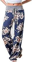 HOMEBABY Vrouwen Bloemen Prints Trekkoord Taille Brede Been Vloeiende Broek Losse Yoga Broek Dames Casual Zomer Sport Work...