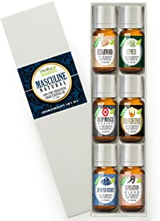 Natural Masculinity Set 100% Pure, Best Therapeutic Grade Essential Oil Kit - 6/10mL