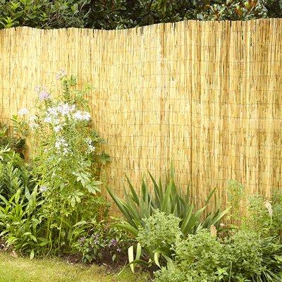 FB FunkyBuys naturale giardino staccionata roll privacy recinzione bordo del vento e sole Protezione esterna (altezza: 1.5m (4') x 27,9cm (lunghezza: 4m (13' 5,1cm))