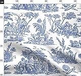 Toile De Jouy, Französisch, Romantisch, Blau Und Weiß,
